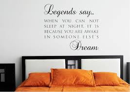 text es legends say dream wall stickers