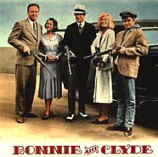 「1967 film Bonnie and Clyde, starring Faye Dunaway and Warren Beatty.」の画像検索結果