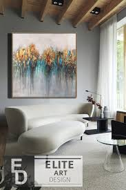 extra large wall art gold leaf abstract