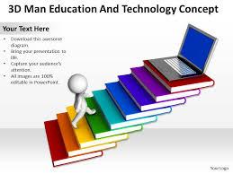 Teachers Powerpoint Templates Technology Teacher Powerpoint Template 3d Man Education And