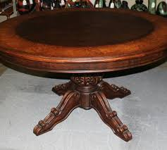 red tribecca hand painted round pedestal dining table