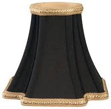 decorative trim inverted corners chandelier lampshade black gold
