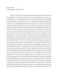 reflection paper on educational tour nestly p tapia reflection paper on educational tour before the tour begins we prepare the