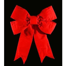 Red Christmas bow interior exterior