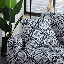 hotniu stretch pattern sofa cover thicken polyester couch covers form fit sofa furniture protector slipcovers