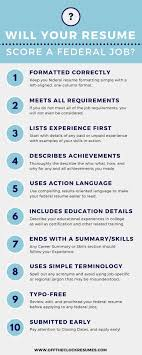 Will Your Resume Score A Federal Job Infographic Military