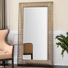 furniture oak wall mount oversized floor mirror for home