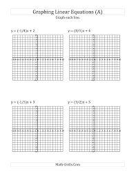 inspiration algebra worksheets graphing linear equations also graph a linear equation in slope intercept form