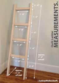 Diy Blanket Ladder Diy Quilt Ladder Quilt Ladder