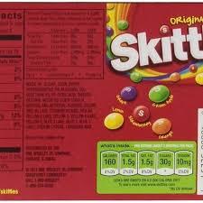 skittles nutrition facts besto regarding skittles food label for skittles food label