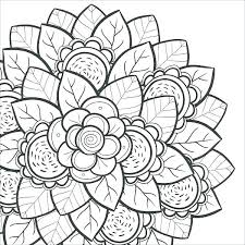 Collection Of Free Printable Flower Coloring Pages For Adults Free