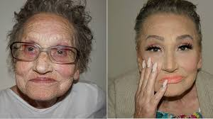 makeup artist tea flego s 80 year old grandmother livia asked her for a makeover
