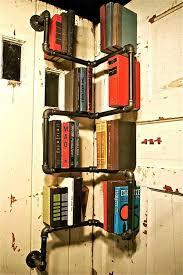 industrial pipe furniture. Ingenious Smart Corner Pipe Bookshelf. 23 Clever DIY Industrial Furniture