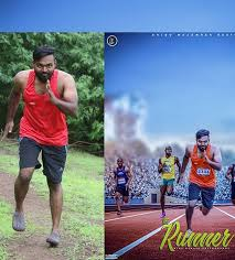 Download Free Psd File Of Runner Poster Photoshop