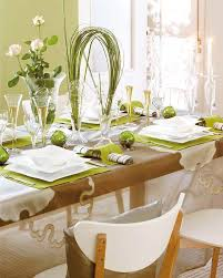 decoration for table. Green Decoration For Table E