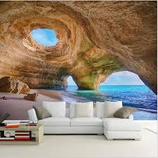 <b>Custom 3D</b> Beach Wallpaper Reef Cave Scene <b>Wall</b> Mural   Floor ...
