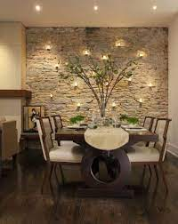 accent walls dining room accents