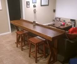 Rustic Bar Top Sofas Center Behind The Couch Bar Top Inchpe And 2x12 Stained