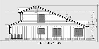 house side elevation view for d 447 craftsman duplex house plans bungalow duplex house