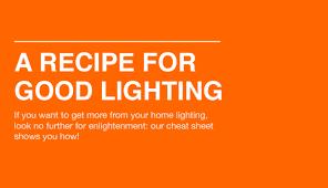 Good Lighting A Recipe For Good Lighting S