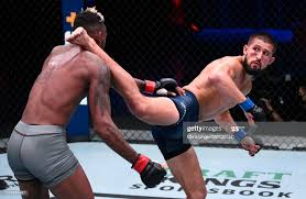 Ronnie Lawrence kicks Jose Johnson in a bantamweight bout during week...  News Photo - Getty Images
