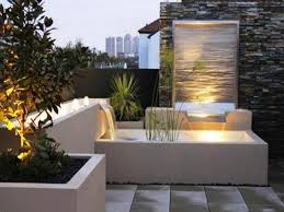 image of lighted outdoor wall water fountains