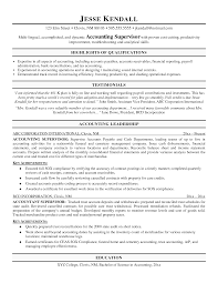 Amazing Sample Of Accounting Supervisor Resume Ideas Entry Level