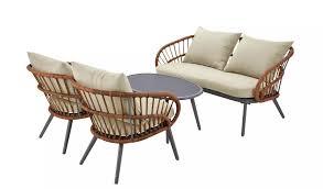 oreti 4 seater rattan sofa set