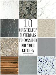 kitchen countertop materials materials to consider for your kitchen round up of material choices at kitchen