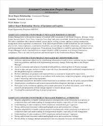 Project Manager Job Description Sample Construction Project Manager Job Description 8