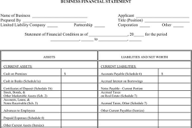 Financial Statement Form | Download Free & Premium Templates, Forms ...