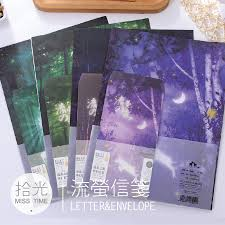 online get cheap writing paper set com alibaba group 6 sheet letter paper 3 pcs envelopes fireflies forest glow letter pad set
