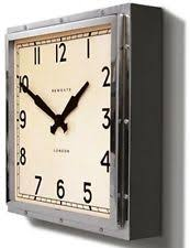 wall clock newgate quad chrome metal glass vintage style timepiece art deco on art deco wall clock reproduction with bedroom square modern wall clocks ebay