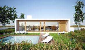 Plain Modern Guest House To Models Ideas