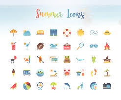 Summer Icons Grab Your Sunglasses 40 Vibrant Icons To Welcome Summer