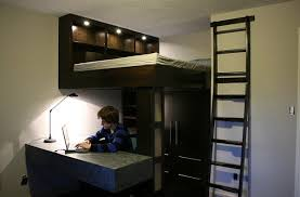 Small bedroom design idea with a loft bed