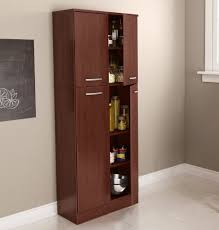 Kitchen Food Pantry Cabinet Food Pantry Cabinet With Doors Tall Wood Free Standing Kitchen