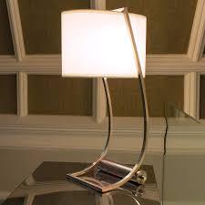 Integrated Usb Port Fabric Table Lamp Lex