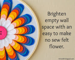 diy embroidery flower wall art project on felt flower wall art diy with diy felt flower wall art color made happy