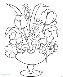 Flower Coloring Pages New Lovely Garden Flowers Book Colour Story