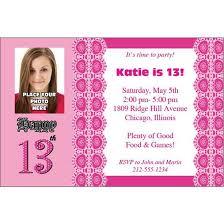 Free 13th Birthday Invitations 13th Birthday Invitations With Photo Free Printable