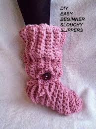Youtube Crochet Patterns Enchanting CROCHET PATTERN Pink Slouchy Slippers Adult Sizes Easy Beginner