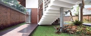 Small Picture Garden Below Staircase at Tropical House Design in the South of