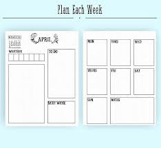 Bullet Journal Template Pdf April Monthly Layout Pdf In A4 A5 And Letter Bullet Journal Bullet