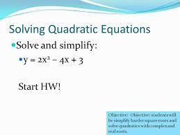 5 solving quadratic