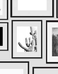 >cactus wall art desert black and white modern art prints ink   cactus wall art desert black and white modern art prints ink print art