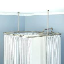 square shower rod square ceiling mount shower rod stainless steel croydex square shower curtain rod and
