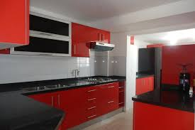 black and red kitchen design. awesome red kitchen design ideas #2378 | baytownkitchen for black, white and black r