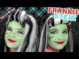 frankie stein monster high costume makeup tutorial for kittiesmama bratayley lets learn makeup
