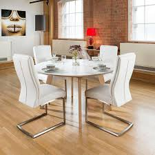 large cm luxury round dining table set with four white padded pictures and 4 legs 2017